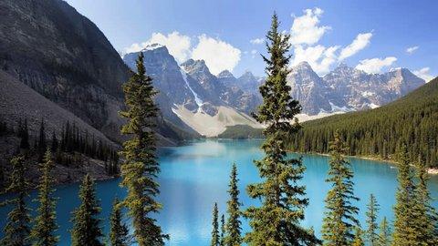 Banff National Park, Canada, Moraine Lake, time lapse