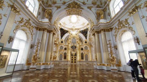 SAINT-PETERSBURG, RUSSIA - MAY, 2015: The halls of state Hermitage Museum in St. Petersburg. Winter Palace.