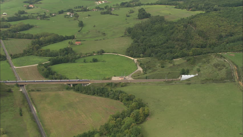 AERIAL France-Tgv Through Tunnel 2006: TGV train into tunnel west of Grenoble could be reversed?