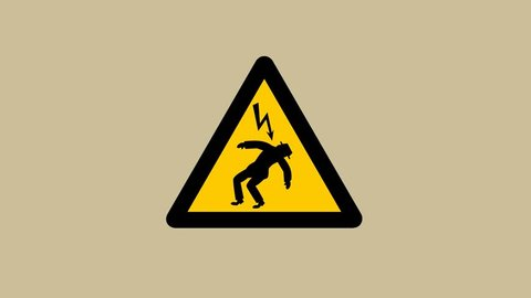 a man gets electrocuted - animation