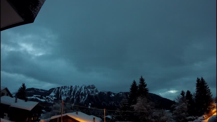 Winter sunrise time lapse | Shutterstock HD Video #1005624478