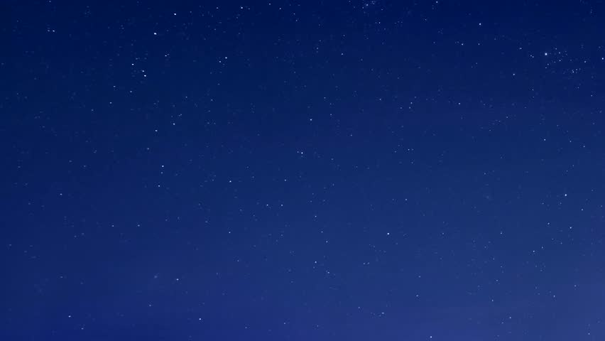 Starry blue night sky, star shine in skies horizon. Time Lapse Beautiful Starry Movement In The Night Sky, Starry night sky with meteor shower Milky Way moving in time lapse. 3840x2160. | Shutterstock HD Video #1006790218