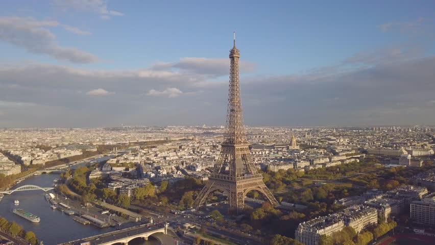Cityscape of Paris. Aerial view of Eiffel tower in sunny day #1006814638