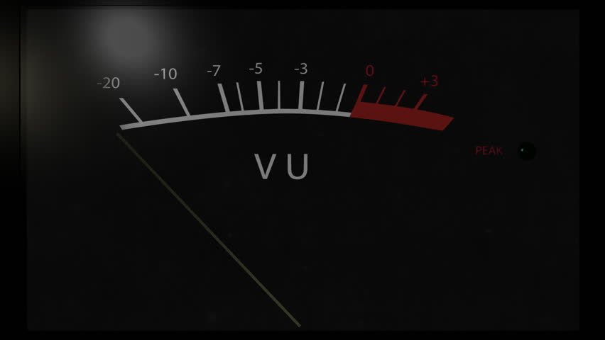 Black VU meter peaking when recording high volume