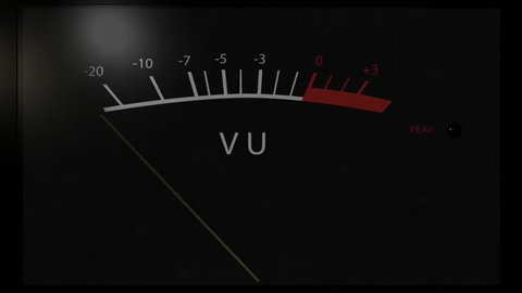 Black VU meter peaking when recording high volume