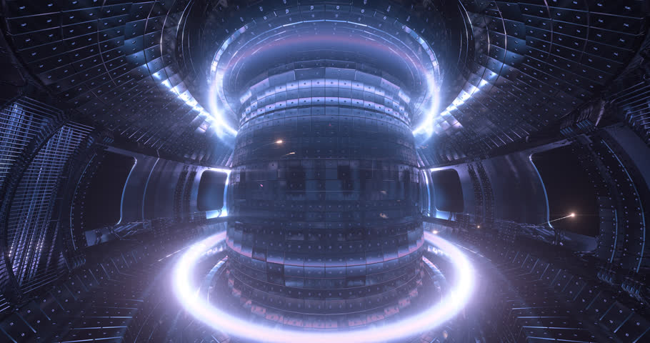 Fusion reactor working.Plasma. . Reaction chamber. Fusion power. Seamless loop 4k High quality realistic animation  | Shutterstock HD Video #1006855858