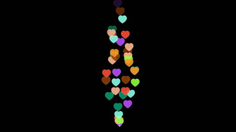 heart, like, from live internet video, with transparent background, alpha chanel