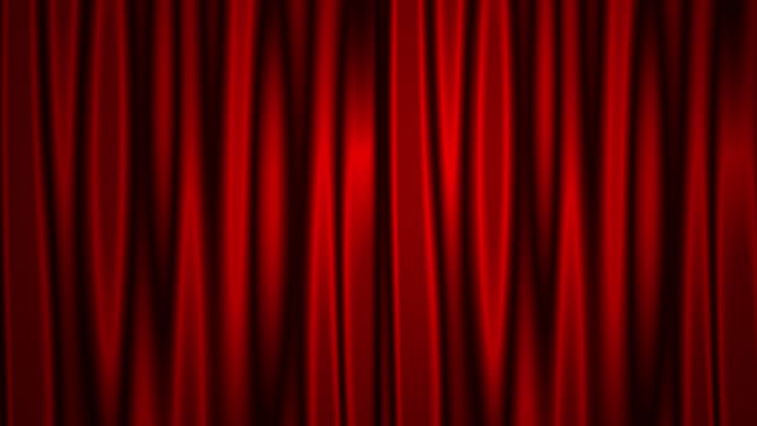 Opening red wavy curtain animation with white screen background. | Shutterstock HD Video #1006892908
