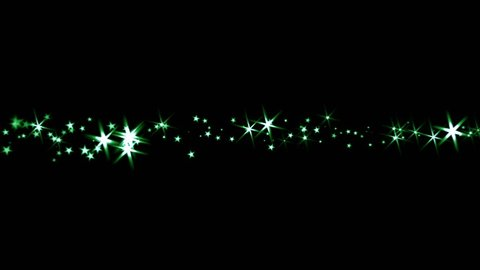 Sparkling Stars - Trail Transition - Green Light Rays - 4K - 4 colorful dazzling particle trails for holiday intro, revealer, transition, background, overlay. Blend as Add, Screen, Lighten for the bl