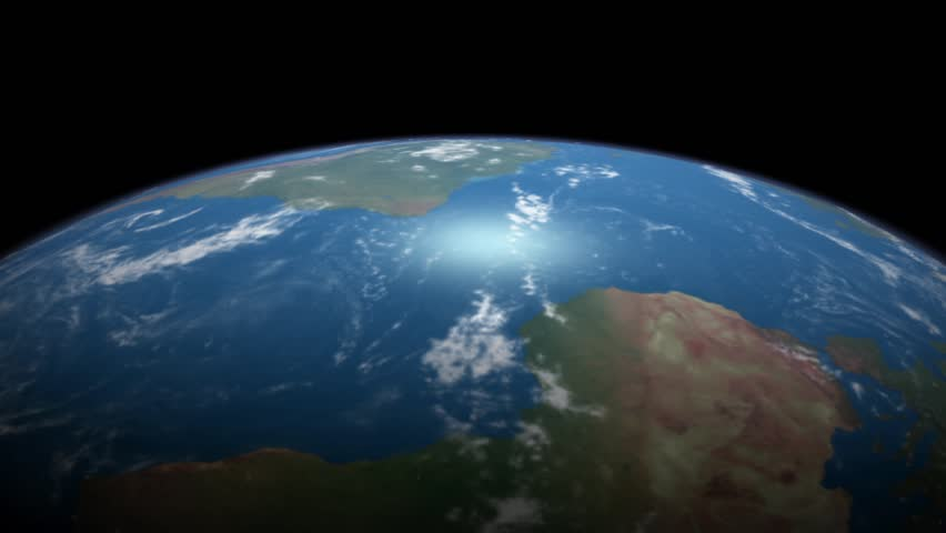 A realistic animation of Planet Earth rotation, a complete revolution of planet earth loop. | Shutterstock HD Video #1007001148