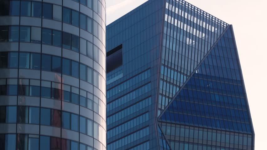 Paris business district La Defense / Epic / Cinematic Aerial / Drone footage 4K / France