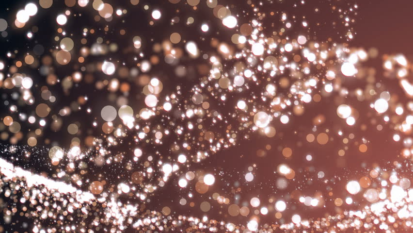 Rose Gold Shiny Particle Sparkles And Glitter. Abstract Background. Stock Footage Video 30043150 ...