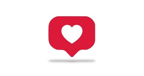 Heart logo dances for you