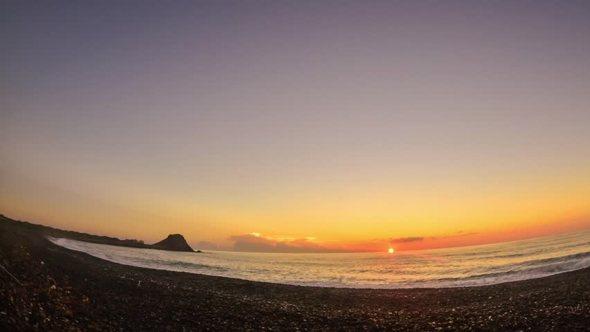 timelapses of sunrises in the sea of cortez mexico.