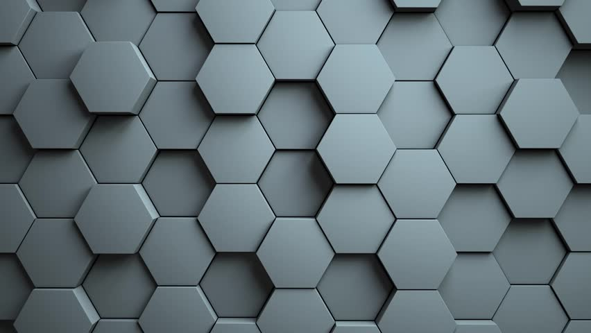 Abstract Hexagons Background Random Motion, 3d Animation 4k | Shutterstock HD Video #1007263708