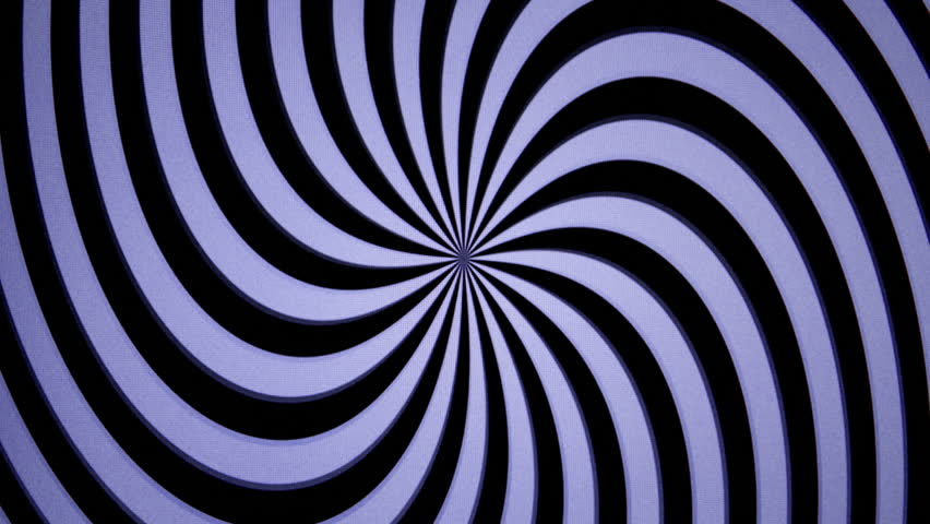 Zooming out from a retro television in space with hypnotic abstract pattern on its screen   Shutterstock HD Video #1007396668
