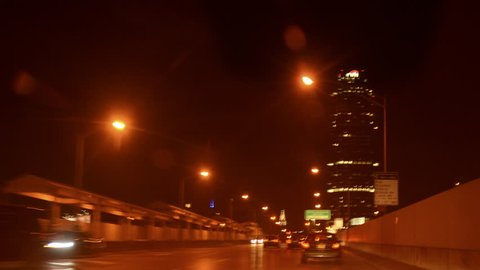 New York City drive time-lapse: Queens to Manhattan to New Jersey. Over the Ed Koch Queensboro Bridge, George Washington Bridge, and FDR Drive at night.