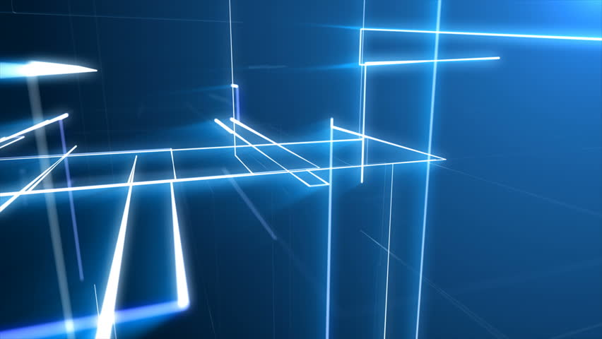 Abstract blue digital lines connection paths of network or system of networks. | Shutterstock HD Video #1007485078