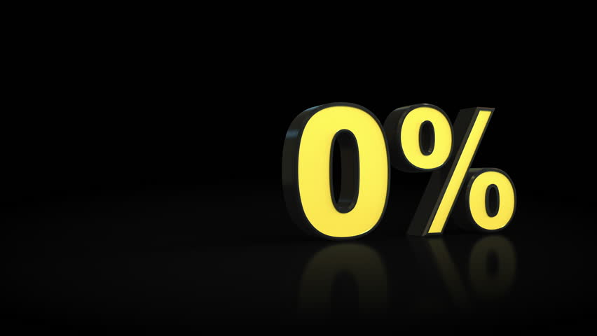 Counting from zero 0 to ten 10 % percent 3D animation
