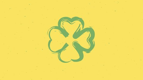 St. Patrick's stop motion animated clovers
