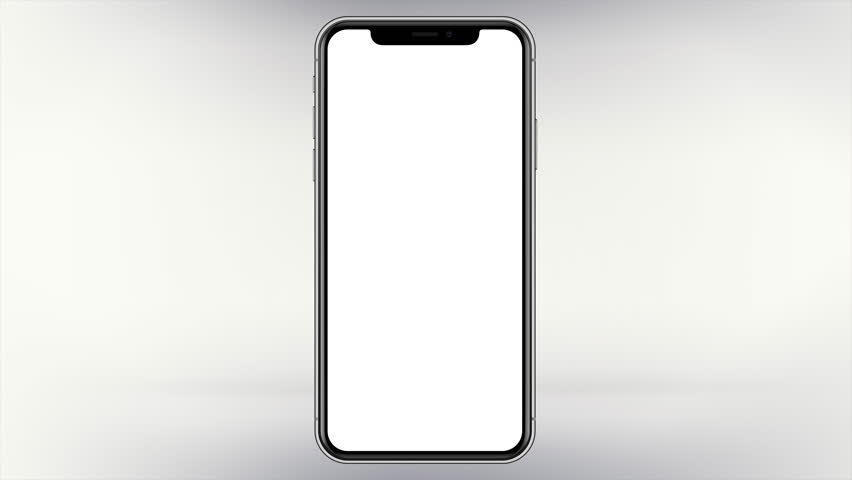 Unbranded Modern Mobile Smartphone White Screen Isolated Mockup Design Image | Shutterstock HD Video #1007617840