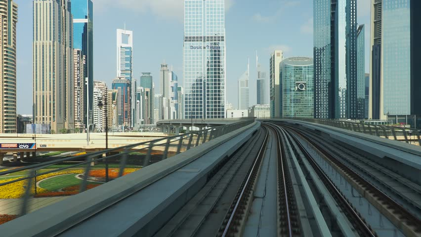 United Arab Emirates, Dubai - January 05, 2018: Dubai Metro Ride. | Shutterstock HD Video #1007732998