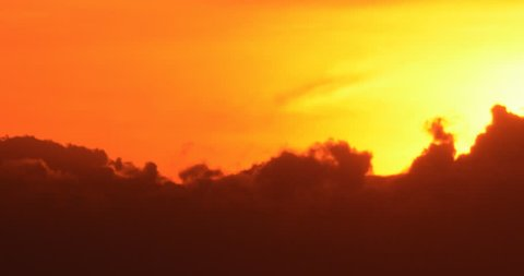 Colorful sunrise sun rise with clouds silhouette time lapse (version 19)