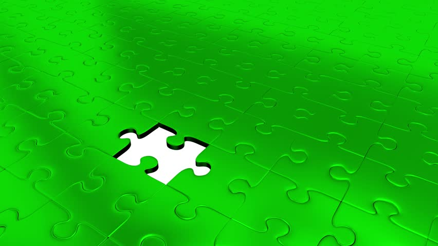 One Red Puzzle Piece transform all other Green Puzzle Pieces into Red