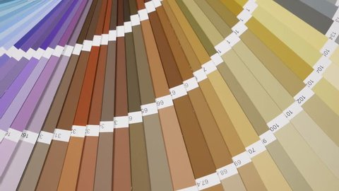 Color Palette Guide Close Up. Coloured swatches catalogue