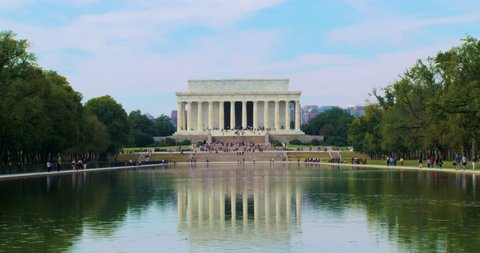 The Lincoln Memorial Medium and reflecting pool in Washington DC