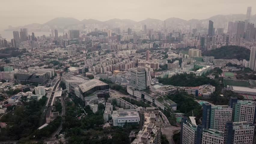 Hong Kong Kowloon City aerial view | Shutterstock HD Video #1007886808