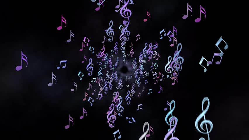 Tunnel of Colorful Musicnotes | Shutterstock HD Video #1007893288