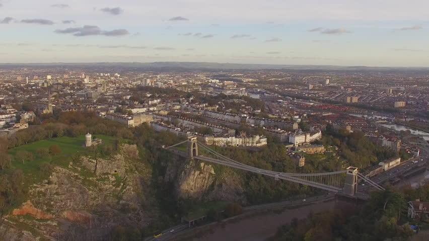 Bristol Clifton Suspension Bridge Aerial Drone Footage