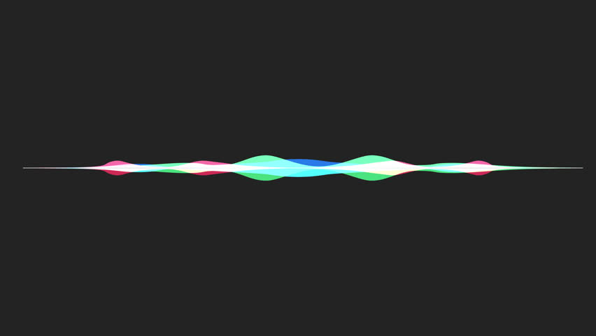 Colorful waveform, imagination of voice record, artificial intelligence | Shutterstock HD Video #1008041728