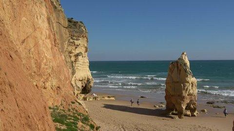 Amazing Ocean Beach with Big Rock