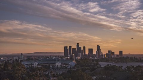 4k Time Lapse of Los Angeles from Chavez Ravine   Dodger Stadium Sunset 335 pics 10 sec int 02-17-18 4K 29.97 UHQ Timelapse