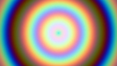 Concentric circles rainbow background