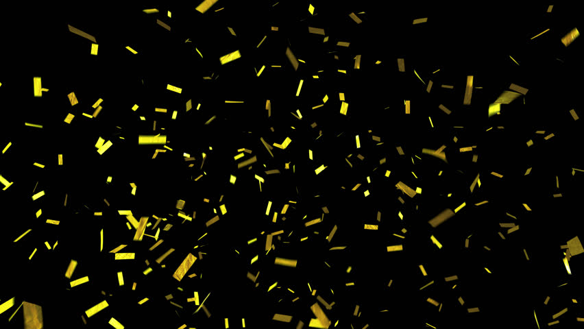 Confetti with alpha channel. Transparency included so can be put over the top of backgrounds. Shiny gold confetti falls and clears frame. See portfolio for more! | Shutterstock HD Video #1008194218
