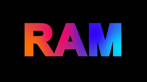 constellation of a RAM multi-colored appear then disappear under the lightning strikes changing color. Alpha channel Premultiplied - Matted with color black