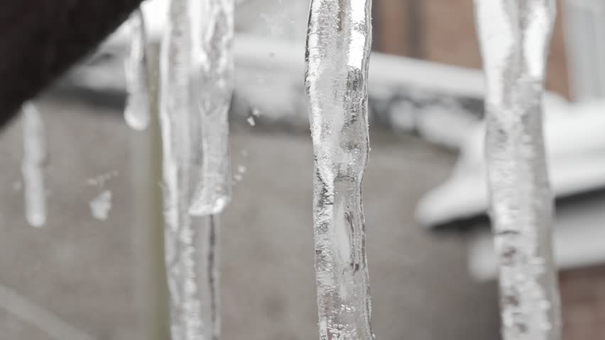 Icicles macro extreme close up stock footage   Shutterstock HD Video #1008227338