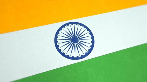 Stockfootage of the National Flag of India. This is seamles looping Background Video of a Indian Flag waving in the Wind. Republic of India Flag in $K and Full HD