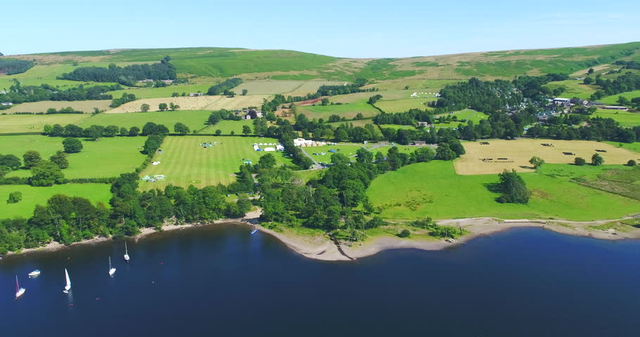 Ullswater lake district aerial | Shutterstock HD Video #1008371188