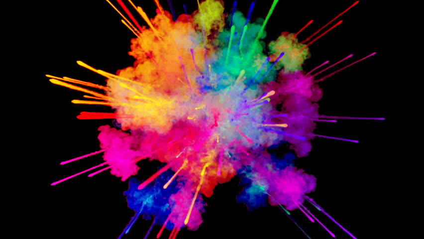 Firework Of Paint Explosion Of Stock Footage Video 100