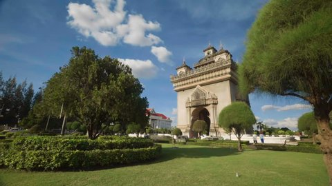 View of Patuxai - Arch of Triumph of Vientiane