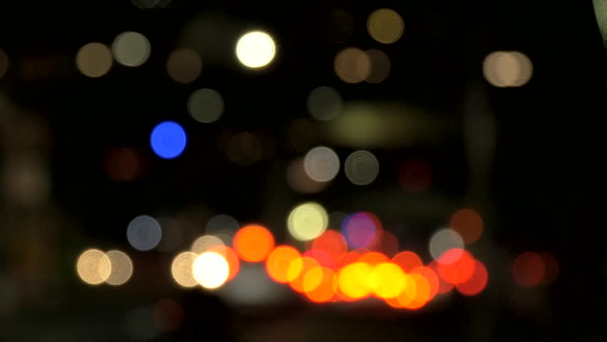 Shot of out of focus car lights in New York City | Shutterstock HD Video #1008522568