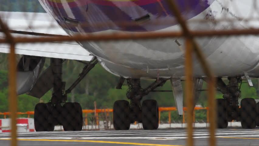 PHUKET, THAILAND - NOVEMBER 26, 2017: Thai Airways Boeing 747 HS-TGB taxiing to start, at Phuket International airport