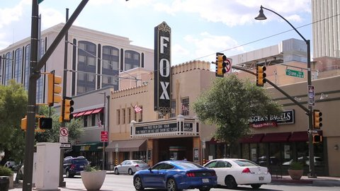 Tucson, Arizona-July 2017: The Fox Tucson Theatre is located in downtown Tucson, Arizona, USA. The theater opened on April 11, 1930 as a performance space in downtown Tucson.