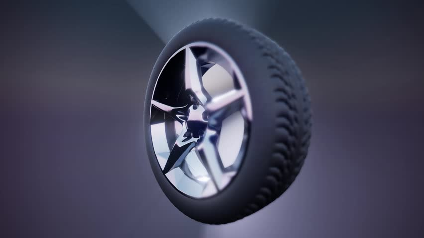 Loop Rotate Wheel on colored background | Shutterstock HD Video #1008722408