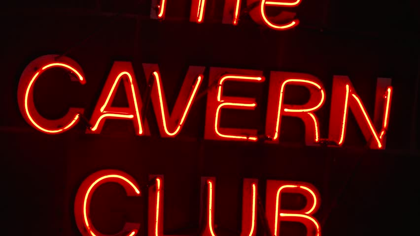 Liverpool, England, September 16, 2017.  The Neon sign for The Cavern Club in Liverpool city centre, one of the attractions on a Beatles tour of the city.