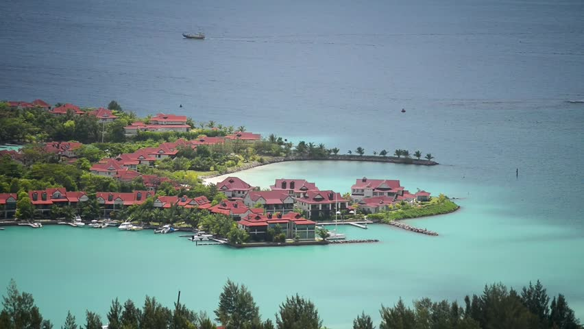 Eden Island in Mahe', aerial view of Seychelles.